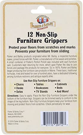 5 Parker Bailey 12 non-slip Furniture Grippers 1.5in dia Lot Of