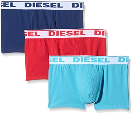 Diesel Mens Fresh & Bright Shawn 3 Pack Boxer Shorts-X-Small