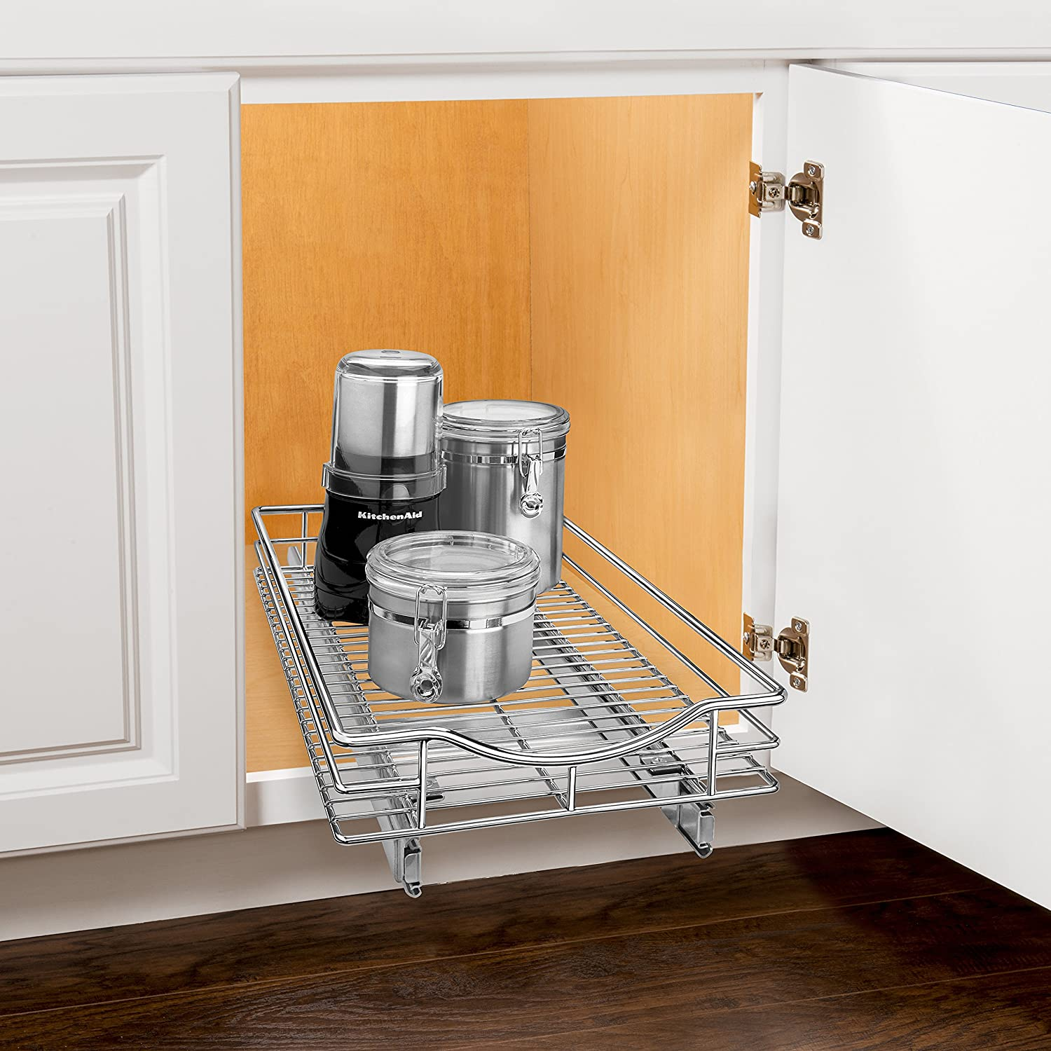 Amazon.com: Lynk Professional Slide Out Cabinet Organizer   Pull Out Under  Cabinet Sliding Shelf: Home U0026 Kitchen