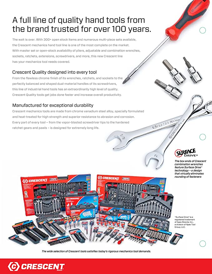 .com: crescent ctk170cmp2 mechanics tool set, 170-piece: home ...