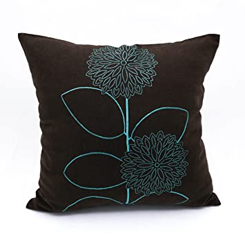 Amazon Teal Throw Pillow Cover Decorative Pillow Cover Linen Fascinating Dark Teal Decorative Pillows