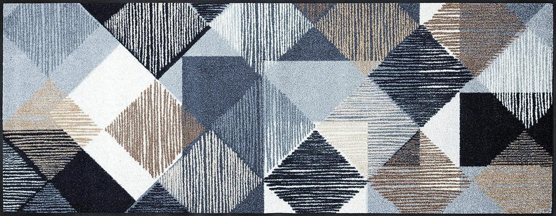 Wash+dry Fußmatte Lines and Boxes 75x190 cm