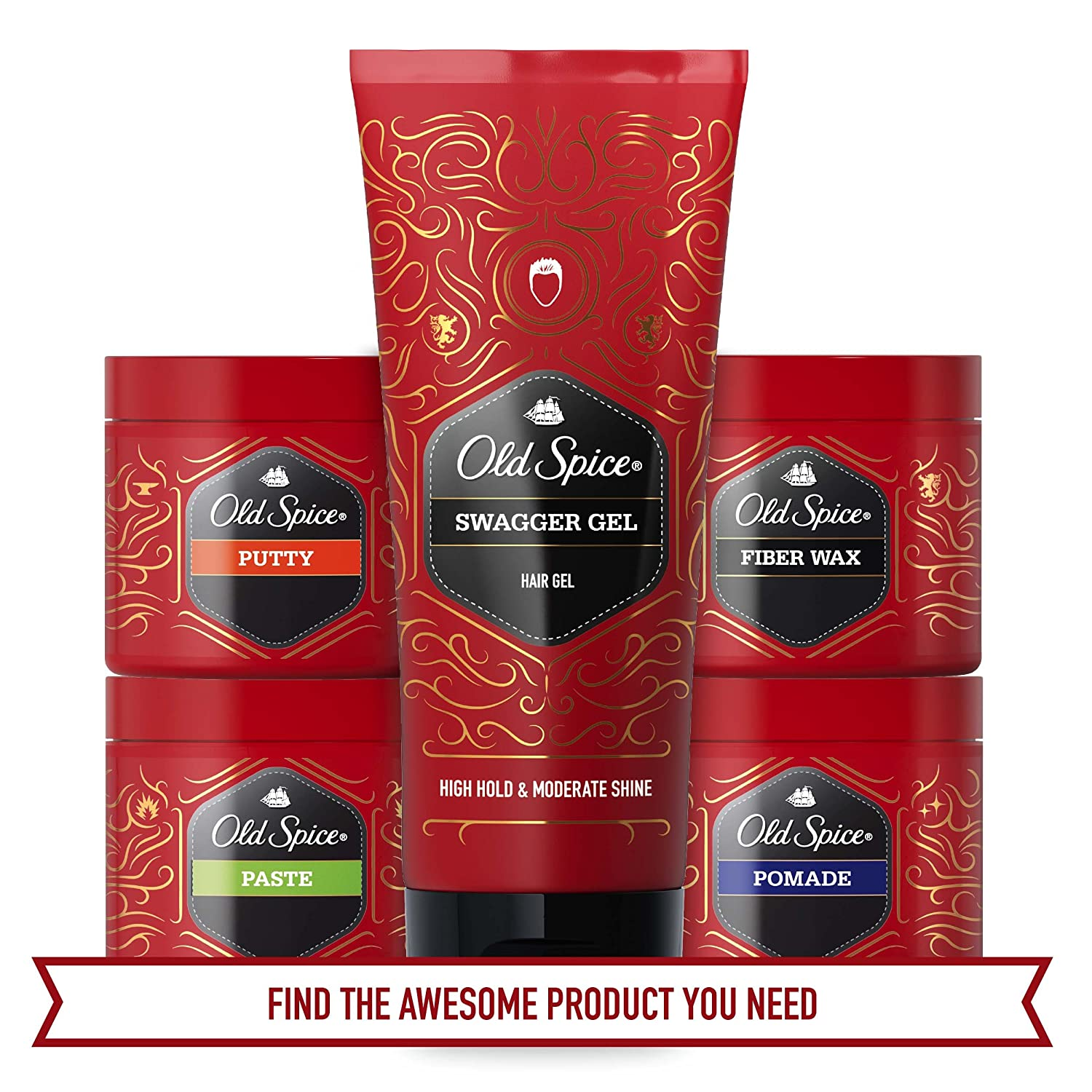 Old Spice Hair Styling Swagger Gel For Men 67 Fl Oz Spider Pomade Beauty