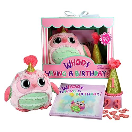 Whooos Having A Birthday Gift Set For Girls Book Owl And Keepsake Hat