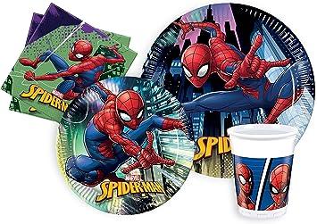 Ciao - Spider-Man Kit Party Tabla, multicolor, L (24 ...