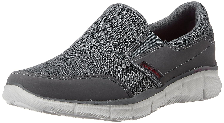 Grey (Charcoal) Skechers Equalizer Persistent Men Low-Top Sneakers