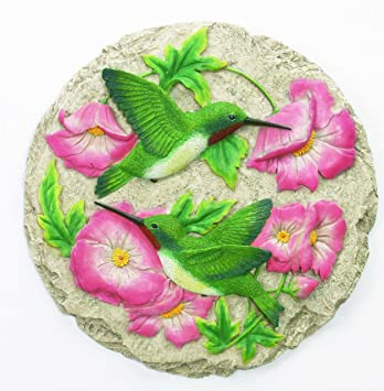 spoontiques hummingbird stepping stone - Decorative Stepping Stones