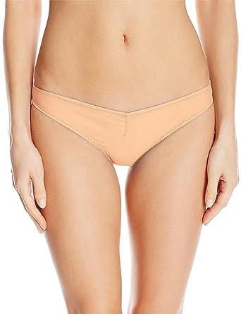 fc70f5f4fbd Volcom Junior's Simply Solid V Beach Pant Bikini Bottom, Pale Peach, ...