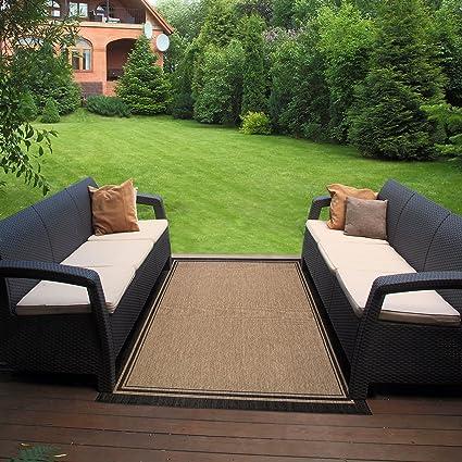 Delicieux Gertmenian 21358 Nautical Tropical Carpet Outdoor Patio Rug, 5x7 Standard,  Border Black