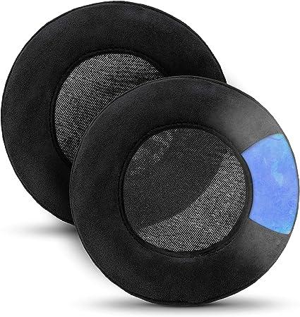 Brainwavz Gaming Earpads for Razer Kraken & Other Gaming Headsets & AKG 701 Q701 & Other Headphones (See List, Dimensions & Video), Cooling Gel, Memory Foam, Micro Suede, XL Round Black