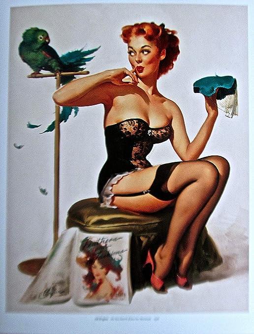 :  Vintage magazine artwork 24 Gil Elvgren pin up art Poster reproduction.