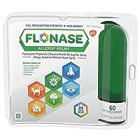 Flonase Allergy Relief Nasal Spray, 24 Hour Non Drowsy Allergy Medicine, Metered...