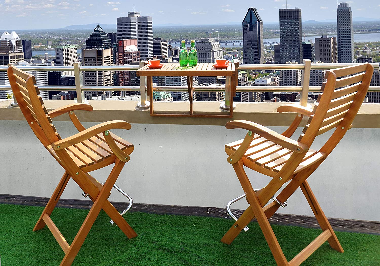 INTERBUILD REAL WOOD Stockholm Balcony Table Organic White
