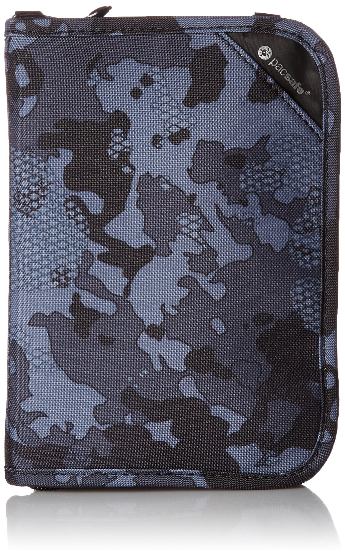 Pacsafe RFIDsafe V150 Anti-Theft RFID Blocking Compact Passport Wallet, Grey Camo