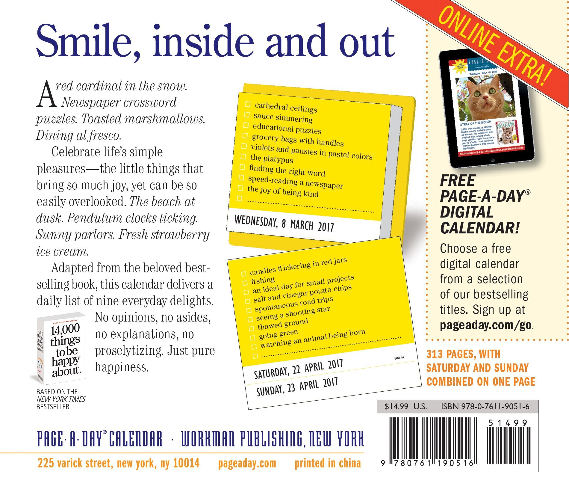 The Best of 14, 000 Things to Be Happy About Page-A-Day Calendar 2017:  Barbara Ann Kipfer: 9780761190516: Amazon.com: Books