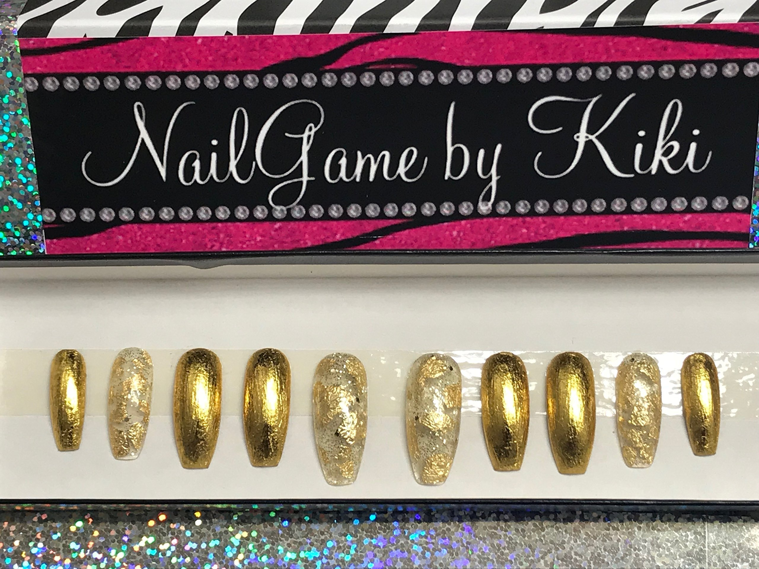 Midas Touch Press on Nails Glue on Nails Fake Nails False Nails Custom Nails Hand Designed Nails Coffin Nails Handmade