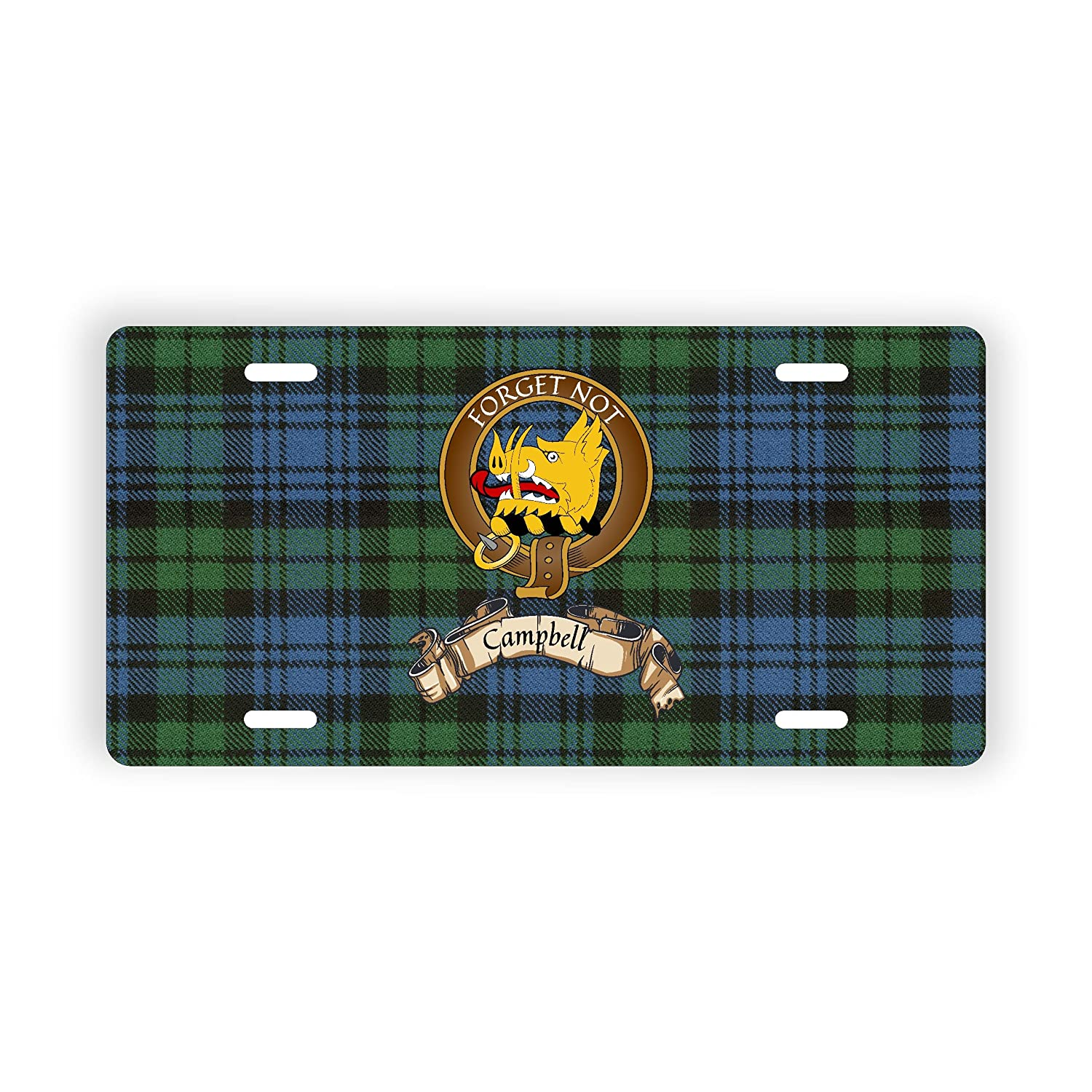 Campbell Scotland Clan Tartan Novelty Auto Plate