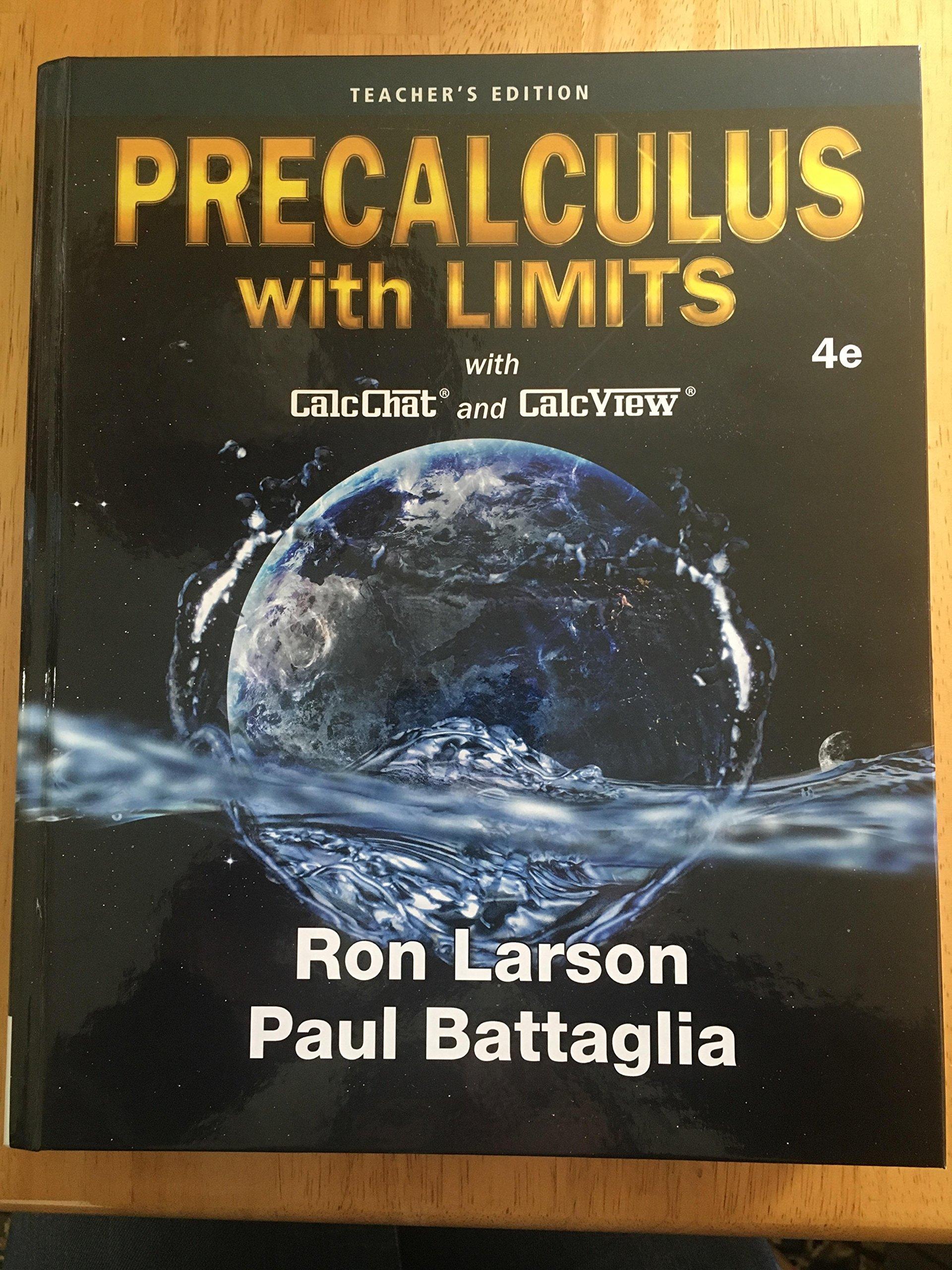 Precalculus With Limits 4e (Teachers Edition): Ron Larson