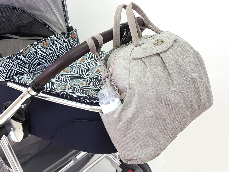 45x14x32 cm Bag in Bag Wickeltasche Chic viele Accesoires beige
