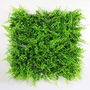 ULAND Artificial Hedges Panels, Topiary Fence Screening, Faux Greenery Grass Backdrop, Outdoor Privacy Wall Garden Fence Decoration, Pack of 6pcs 20