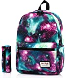 HotStyle TrendyMax Galaxy Pattern Casual School Travel Laptop Backpack Rucksack Daypack Bags (with matching pencil bag)