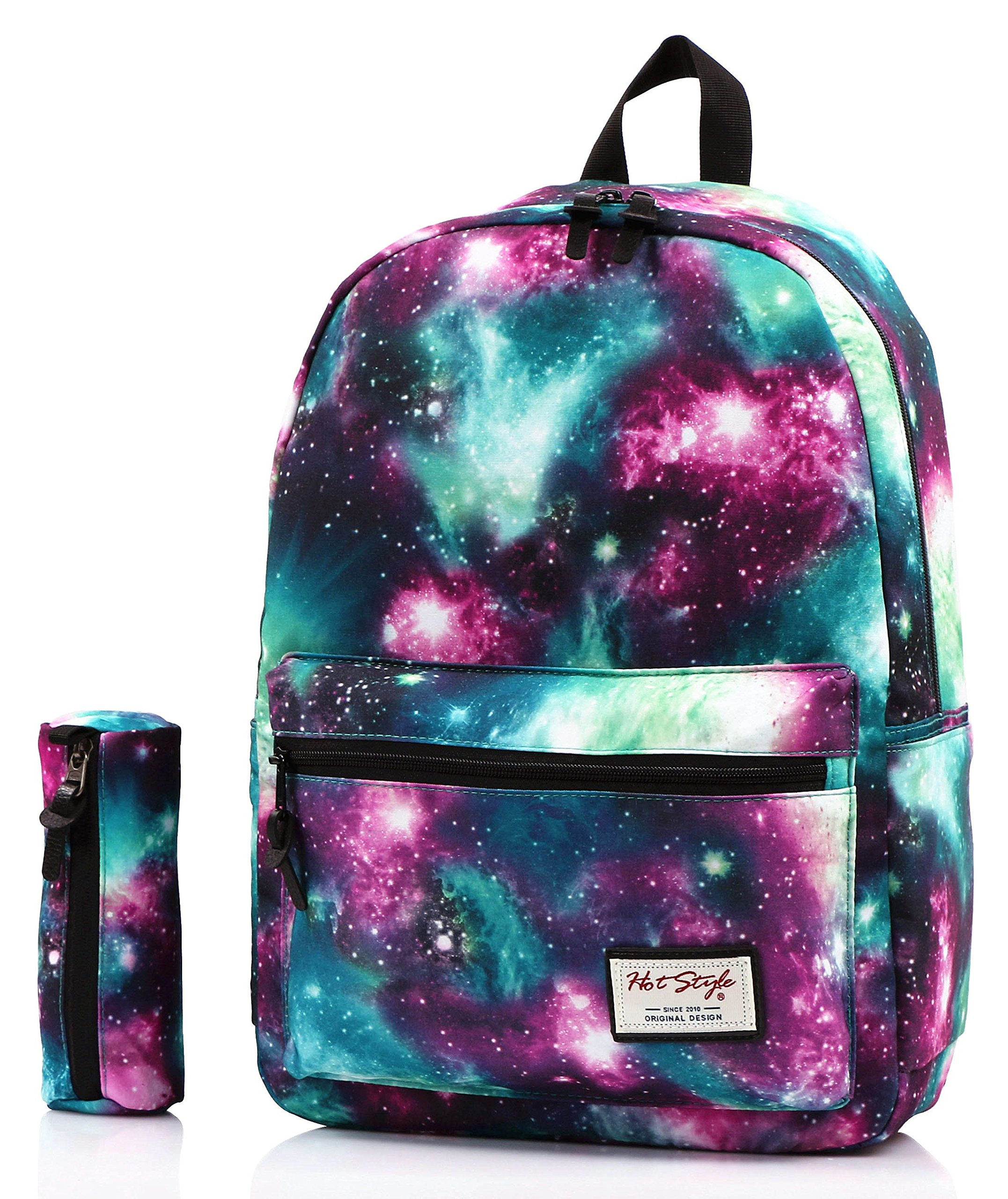 hotstyle TRENDYMAX Galaxy Backpack Cute for School | Green | Bundles with Matching Pencil Bag by hotstyle