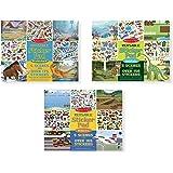 Melissa & Doug Reusable Sticker Pads Set:  Prehistoric, Habitats, and Vehicles