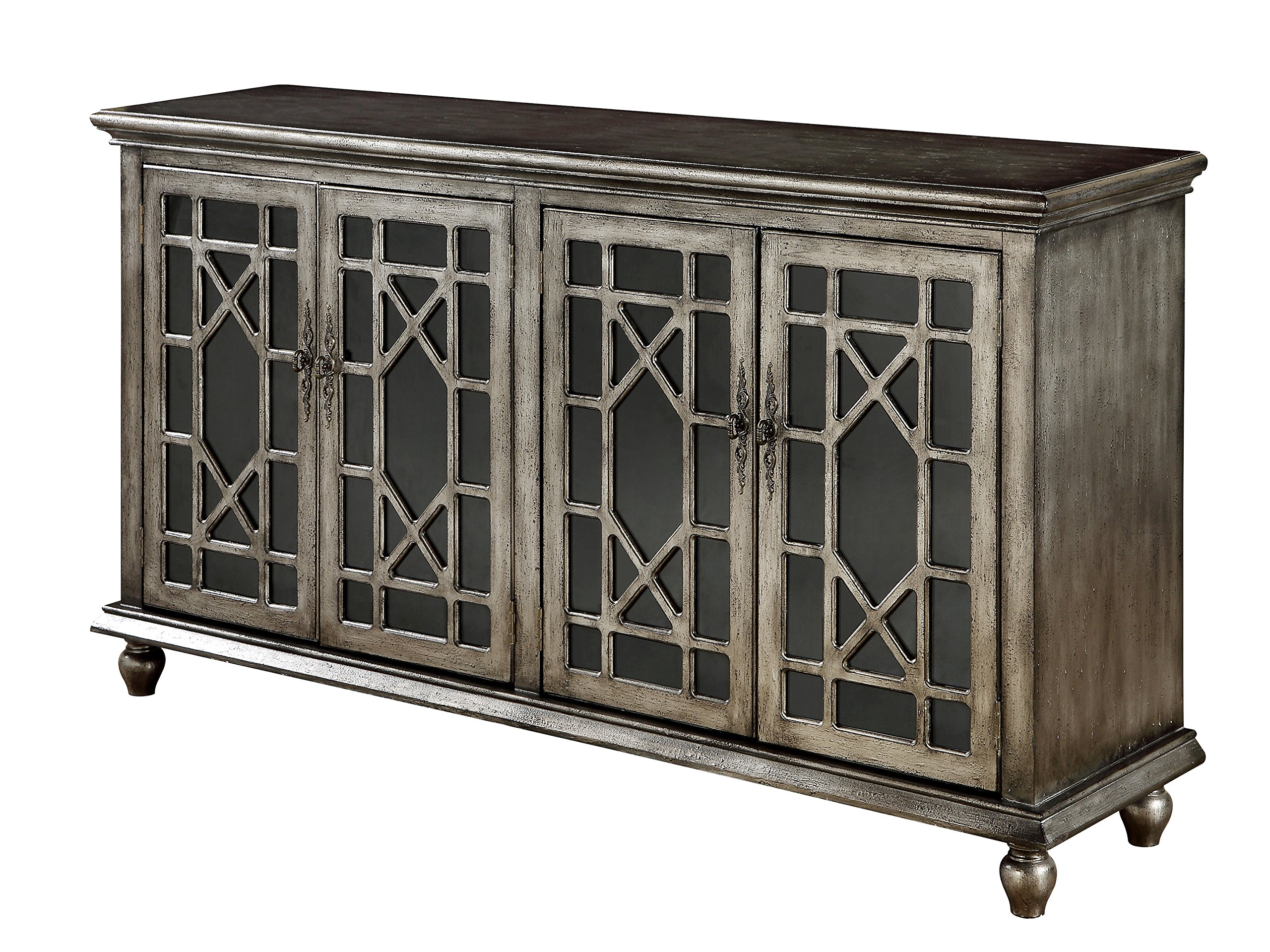 DeVille Textured Metallic Four Door Media Credenza