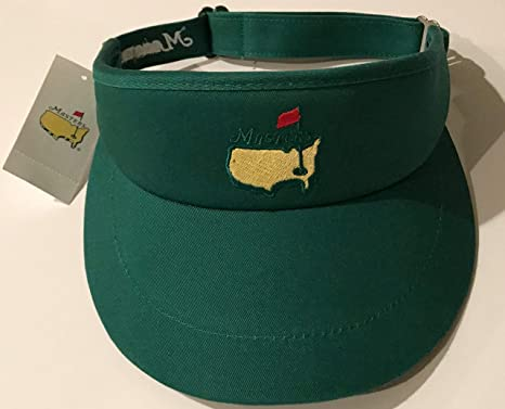 1dfe9cea240 Image Unavailable. Image not available for. Color  2019 Masters golf visor  green tour style Augusta National new