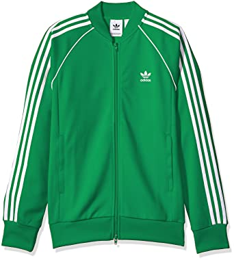 eeba9b86359f adidas Originals Men s Superstar Track Jacket, Green, S  Amazon.de ...