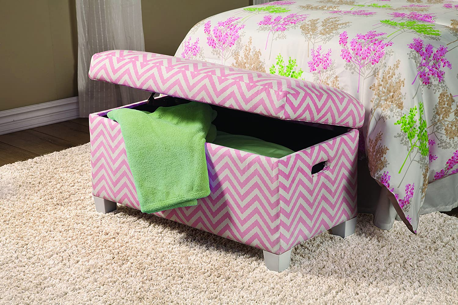 Coaster 405023 Home Furnishings Storage Bench - Pink-White