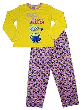 Minions - Pijama de Minions para niños amarillo 5-6 años