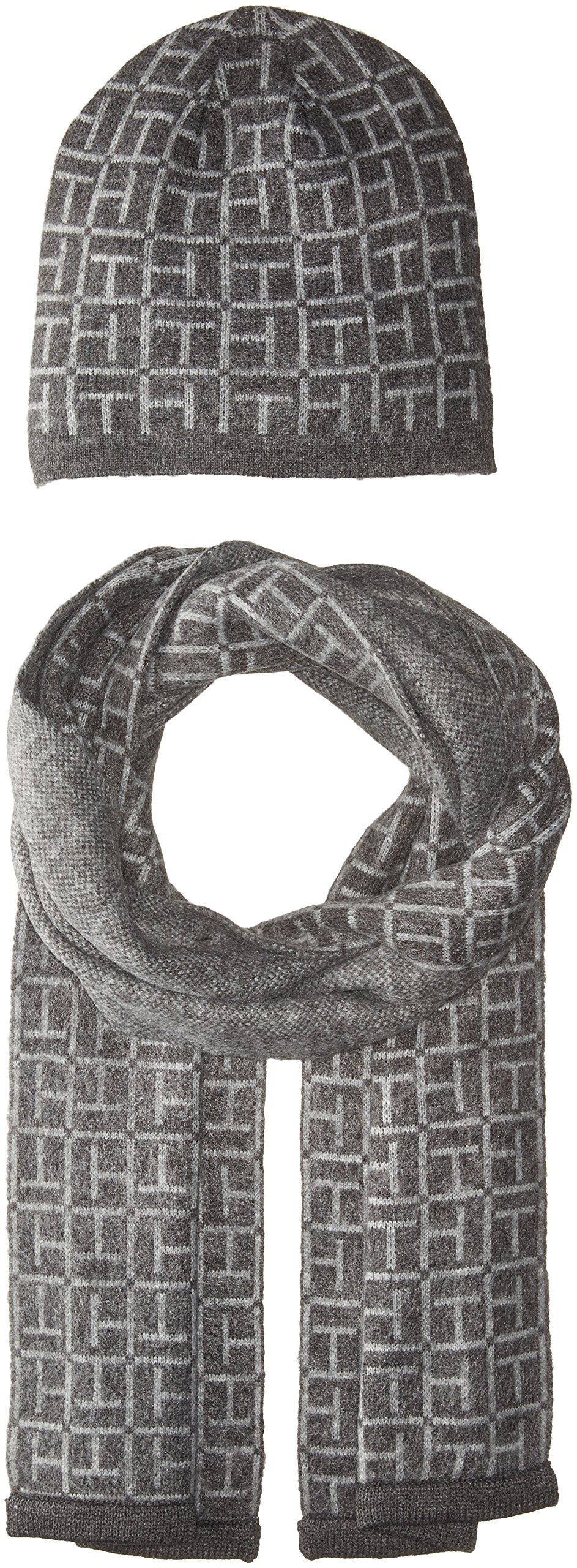 Tommy Hilfiger Women's Hat and Scarf Set, Meteorite, One Size