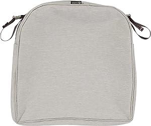 Classic Accessories Montlake Patio Back Cushion Slip Cover, Heather Grey, 18x18x2 Contoured