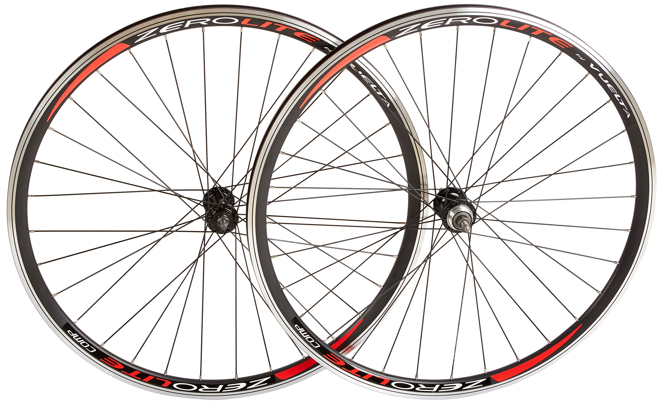 Vuelta ZeroLite Track Comp 700C Wheel Set (Black) by Vuelta
