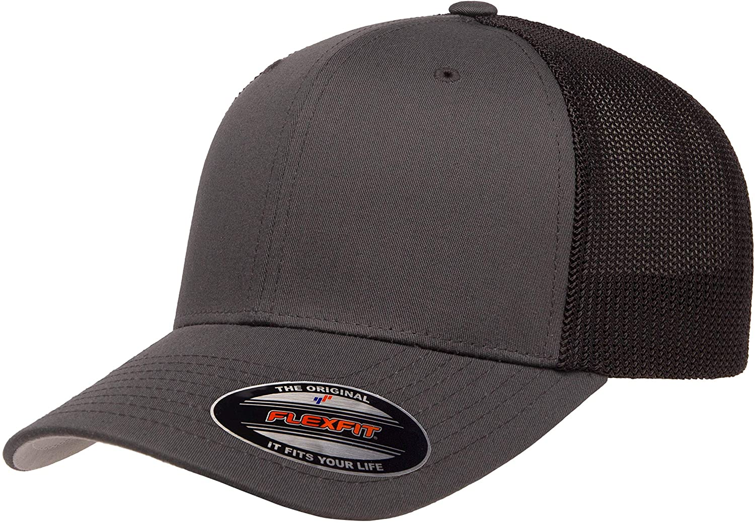 Flexfit Unisex-Adult's Trucker Mesh Cap, Black: Flexfit: Clothing