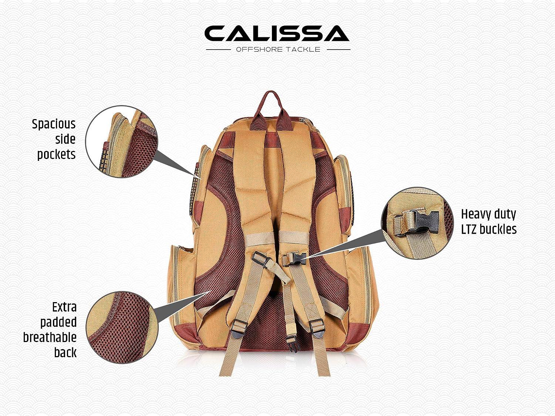 Amazon.com: Calissa - Mochila de pesca con diseño de ...