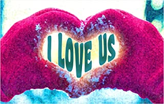 product image for Next Innovations Motivational Wall Art I Love Us Wall Decor Panel