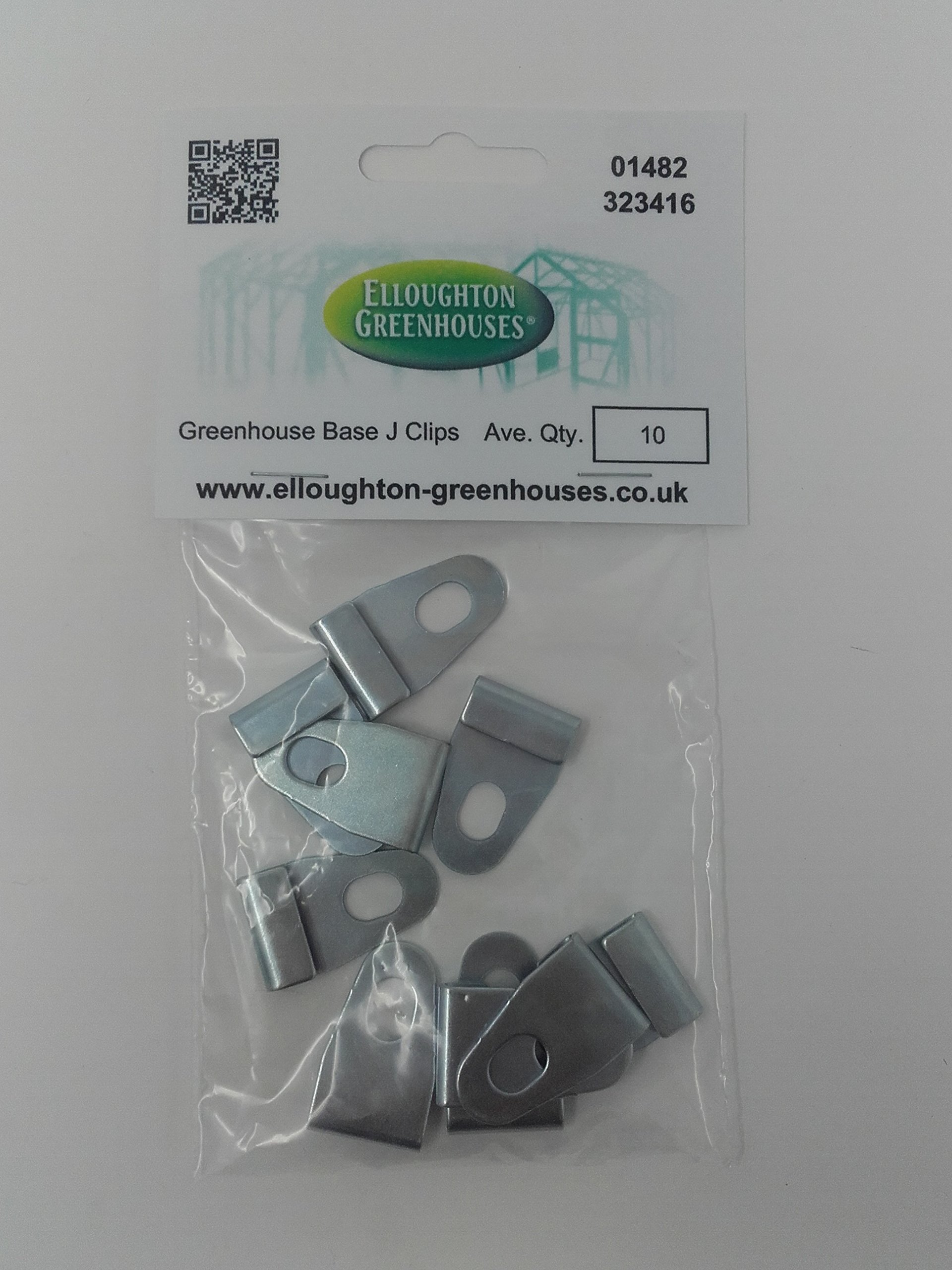 SupaGarden W Glazing Clips Greenhouse Clips Pack of 25