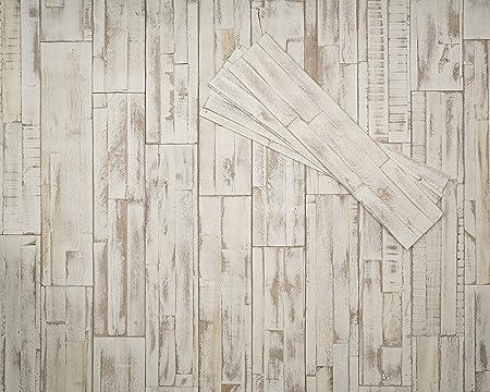 Mywoodwall 3d Wandverkleidung Holz Weiss Selbstklebend Brushed Coral Moderne Wandpaneele Vintage Umweltfreundlich Amazon De Kuche Haushalt