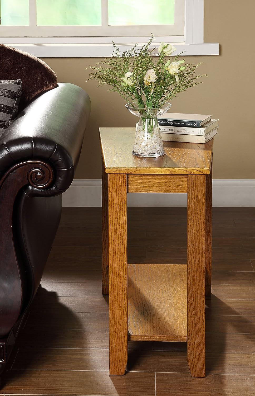 Charmant Amazon.com   Homelegance 4728AK Chair Side Table, Oak Finish   Kitchen U0026  Dining Room Furniture