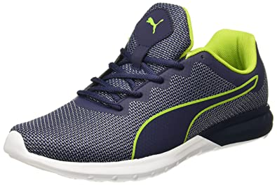 27f1fd37889bbc Puma Unisex s Vigor Idp Peacoat-Acid Lime Black Running Shoes-9 UK India