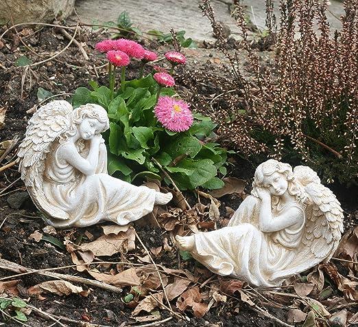 FHFY - Ángeles de Piedra para jardín, Set of 2 Angels: Amazon.es: Jardín