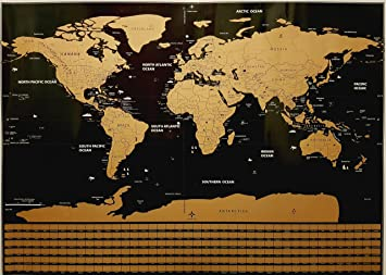 World scratch off travel map poster set with scratching tools world scratch off travel map poster set with scratching tools magnifying glass and stickers gumiabroncs Images
