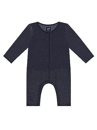 e6231a06a970 Antebies Unisex-Baby Organic Coverall Denim Blue Soft Snap Down Romper. 0m