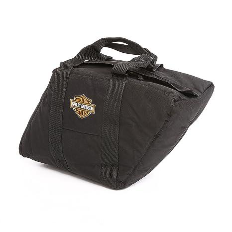 amazon com harley davidson slant saddlebag liner black sports
