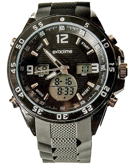 11925 Al Exactime Reloj Deportivo Unisex Negro Resistente Agua wOyvn08mPN
