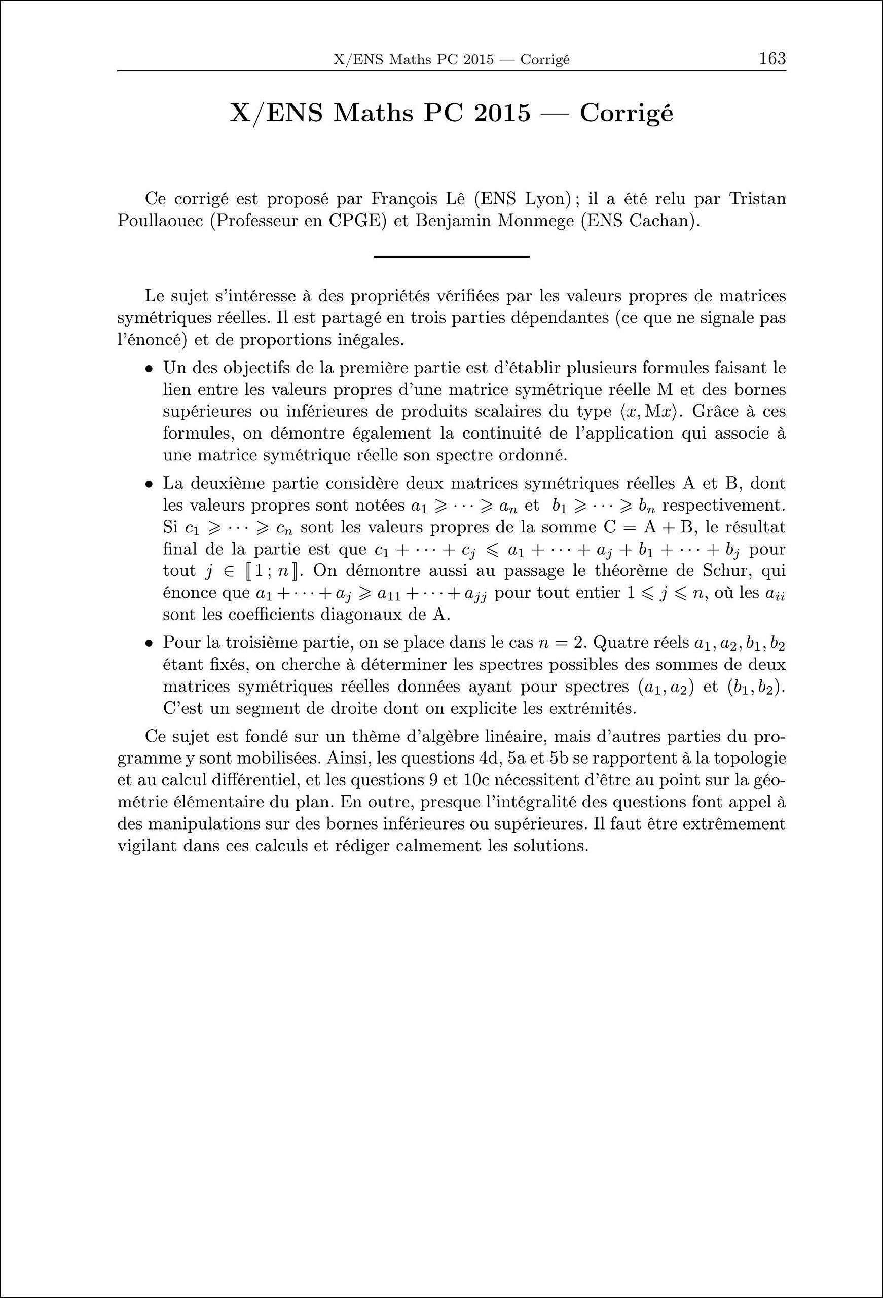 2015 Annales des Concours PC Mathematiques: 9782351413210: Amazon.com: Books