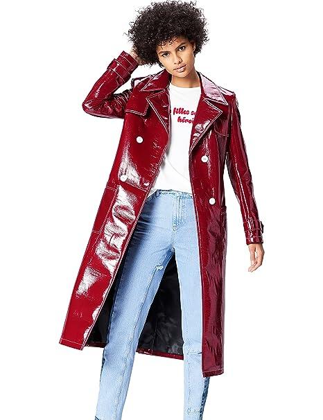 buy online 02bac 7ba04 Amazon-Marke: find. Damen Trenchcoat in Lackleder-Optik
