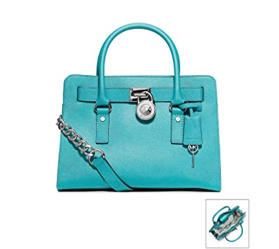 Blue and acquamarine leather bag Coach 43voY